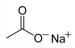 chemical structure of sodium acetate